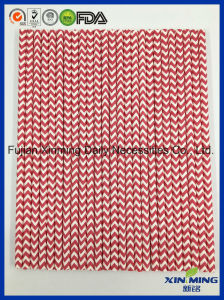 Birthday Party Decoration Bright Red Chevron Paper Straw pictures & photos