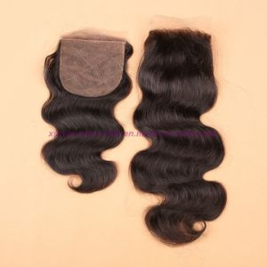 8A Unprocessed 100% Human Hair Virgin Mongolian Body Wave Bundles with Silk Base Closure pictures & photos