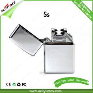 2017 Global Hot Sale New High-End Rechargeable Metal Double Arc Lighter pictures & photos
