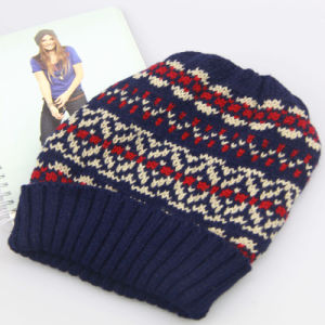 Women Knitted Hat, Winter Beanie Hats, acrylic Jacquard Weave Knitted Hat pictures & photos