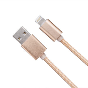 1m 5V 2A Nylon Insulated 8 Pin USB Cable for iPhone, iPad pictures & photos