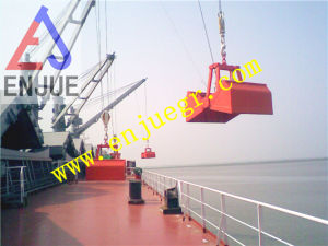 Wireless Electric Hydraulic Clamshell Grab Bucket for Marine Crane pictures & photos