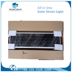 40W Mono Crystalline Solar Panel PIR Mention Sensor All in One Solar LED Street Light pictures & photos
