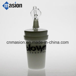 White Jade Cup Glass Water Pipe for Smoking (ZY008) pictures & photos