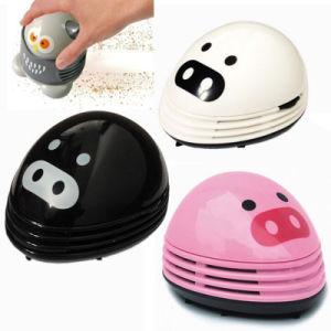 Mini Cute Pig Shaped Mini Corner Desk Vacuum Cleaner Cartoon Portable Cute Table Vacuum Cleaner Electric Desktop Dust Sweeper pictures & photos