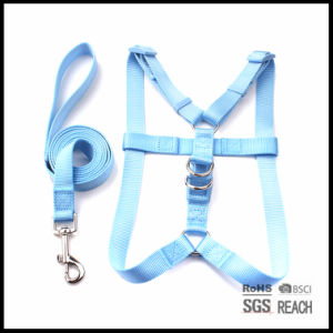Custom Blank Solid Nylon Step-in Pet Dog Harness with Leash pictures & photos