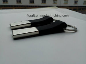 Rubber Metal Keychain for Promotion Gift pictures & photos
