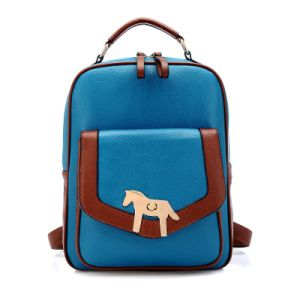 Vintage Pony Turn Lock Leather Zipper Around Backpack