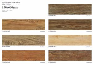 Inkjet Printing Wood Look Ceramic Floor Tile 150X60 Price pictures & photos