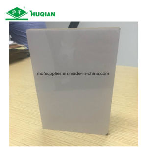 White Color UV Melamine MDF with 1220*2440*15mm Size pictures & photos
