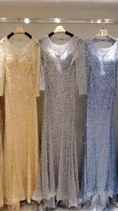 Gold Evening Dress, Wine Red Prom Dress, Blue Evening Dress, Grey Evening Dress pictures & photos