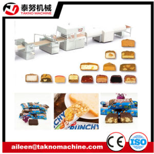 Chocolate Enrobling Candy Bar (snicker) Production Line pictures & photos