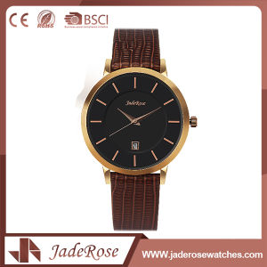 Custom Fashion Simple Wide Leather Watch pictures & photos