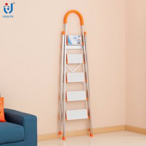 5-Step Multi-Purpose Household Folding Stainless Steel Ladder pictures & photos