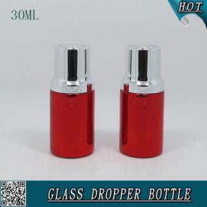 30ml Cosmetic Liquid Essence Serum Dropper Bottle Red Aluminum Essential Oil Bottle pictures & photos