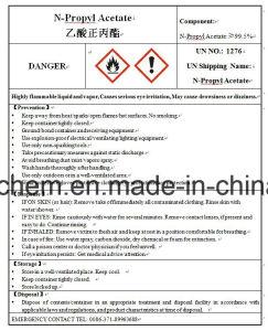 Solvent N-Propyl Acetate (Npac) Un No 1276 for Plastics pictures & photos