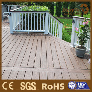 Anti-Slip WPC Composite Decking Boards Color Mix WPC Decking pictures & photos