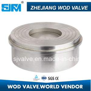 304 316 Stainless Steel Disc Type Check Valve for Water Oil Gas pictures & photos