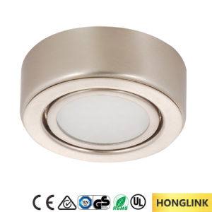 Round Surface Mounted Cabinet 12V 1.6W Lamp LED Exhibition Cabinet Light pictures & photos