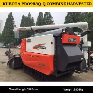 Kubota 98HP Combine Harvester PRO988q-Q for Sale, China Kubota Combine Harvester 988q-Q pictures & photos