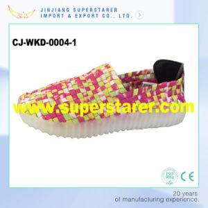 Luminous Casual Knitted Upper Men Women LED Shoes with LED Light pictures & photos