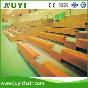 Wooden Bleacher Telescopic Tribune for Training Retractable Bleachers Jy-705 pictures & photos
