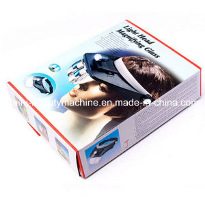 Hands Free Head Headband Helmet Magnifier Glasses Loupe Head Magnifier with 2 LED Lights and 4 Lens pictures & photos