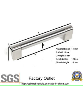 Factory Price Hollow Steel Furniture Cabinet Hardware Door Pull Handle (T 138) pictures & photos