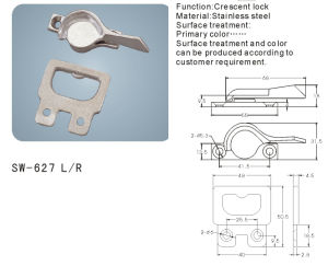 Stainless Steel Crescent Lock for Window and Door (SW-627 L/R) pictures & photos
