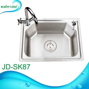 Single Bowl Kitchen Sink with Faucet and Soap Dispenser Hole pictures & photos