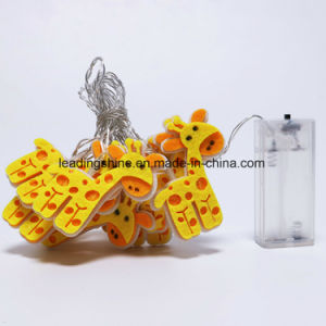 Environmental Battery Operated Giraffe Shape LED Flashing Decorative Fairy Light for Baby′s Room pictures & photos