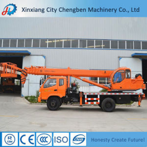 World Welcomed Pickup Mobile Truck Crane with Basket for Sale pictures & photos