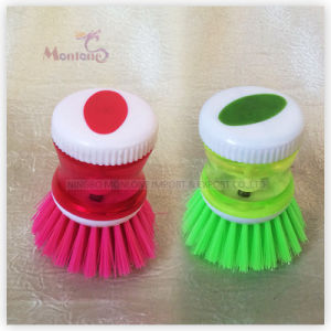 Kitchen Plastic PP Water Tight Cleaning Tools Pot Brush pictures & photos
