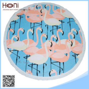 Hot Sale Best Price 100% Cotton Round Beach Towel pictures & photos