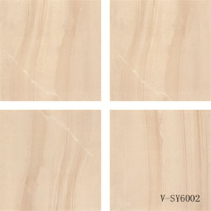Indoor Four Faces Matt Porcelain Yellow Polished Marble Floor Tile (600X600mm)