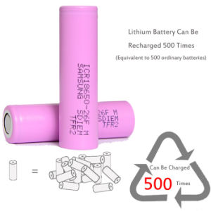 Samsung 26f (2600mAh/20A) 18650 Battery Rechargeable Battery pictures & photos