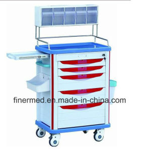 Steel Anesthesia Trolley with Shelf pictures & photos