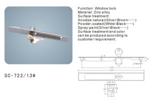 Sliding Window Lock with Keys (SC-723-13#) pictures & photos