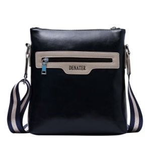 Wholesale Black Leather Waterproof Men Briefcase pictures & photos
