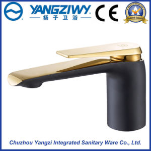 Black and Gold Color Single Lever Kitchen Faucet (YZ5322) pictures & photos