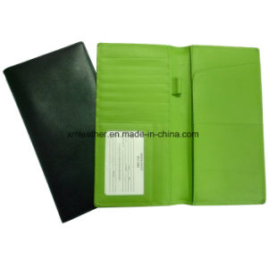 Custom PU Leather Passport Holder Cover for Travelling pictures & photos