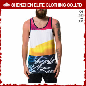 Drop Armhole Funny Printed Sleeveless Tank Top Men (ELTMBJ-573) pictures & photos
