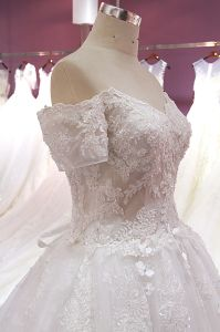 See Through Delicate Wedding Dress pictures & photos