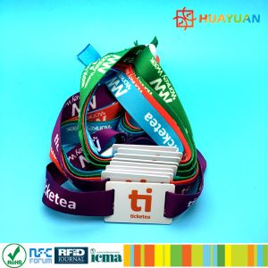 Musical Festival NTAG213 NFC Smart RFID Fabric Woven Wristband pictures & photos
