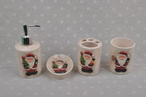 Christmas Bathroom Sets Ceramics Bath Accessories Fashion Bath Set pictures & photos