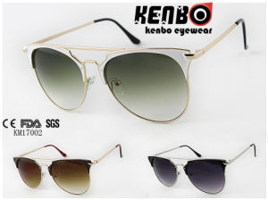 Classic Full Metal Frame with Nomal Temple Km17002 Latest Design Sunglasses pictures & photos