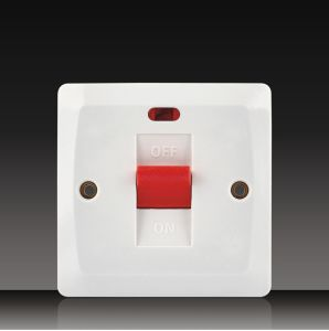3X3 45A 1gang Wall Switch with Neon (BK451) pictures & photos