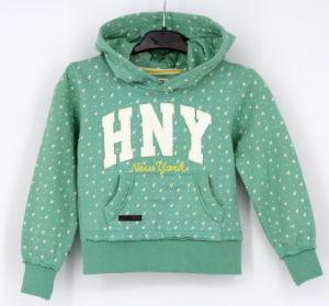Ss17 Girls Top Fleece Zip Through Sweatshirt Hoodies Top Clothes pictures & photos