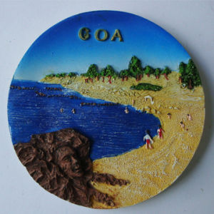High Quality Round Shaped 3D Resin Indian Fridge Magnet for Sale pictures & photos