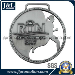 Good Price Die Casting Zinc Alloy Metal Medal Antique Silver Plating pictures & photos